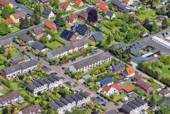 Housing development of single-family homes and townhouses located in Celle (Lower Saxony, Germany)