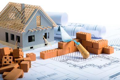 brick and project for construction industry background