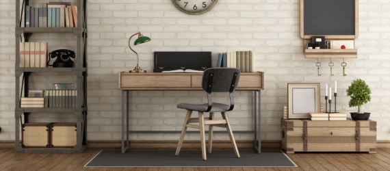 Home Office im Keller im Industrial Design