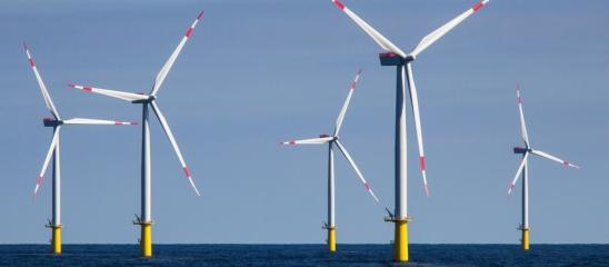Windkraft Offshore-Anlage
