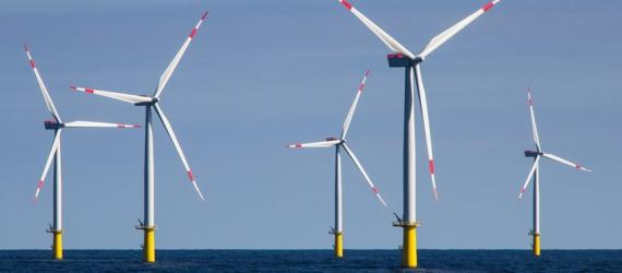 offshore wind power farm in the north sea