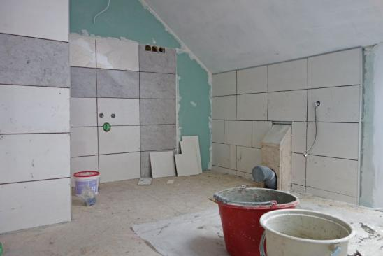 Bathroom being renovated