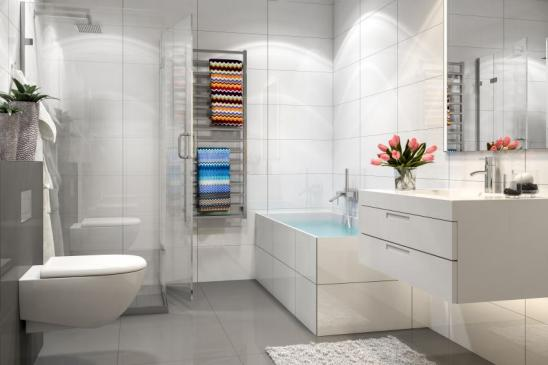 Modern bathroom. Render image.